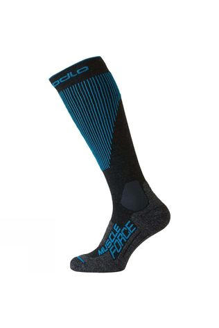 Odlo Mens Muscle Force Ski Warm Sock Odlo Graphite Grey/Blue Jewel