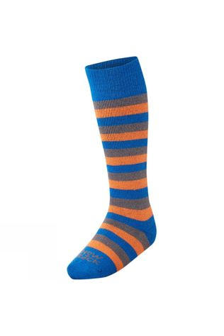 Horizon Kid's Comfort Ski Sock STRIPED ROYAL/ORANGE/CHARCOAL
