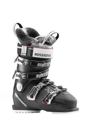 Rossignol Womens Pure Elite 70 Ski Boot Black / Purple Trim