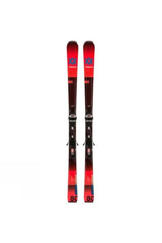 Volkl Men's Deacon 80 Skis With LowRide XL Binding Red/Black