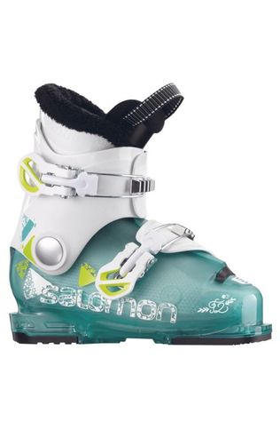 Salomon T2 RT GIRLY Junior Ski Boot Girly Green Tra/Wh/Acid