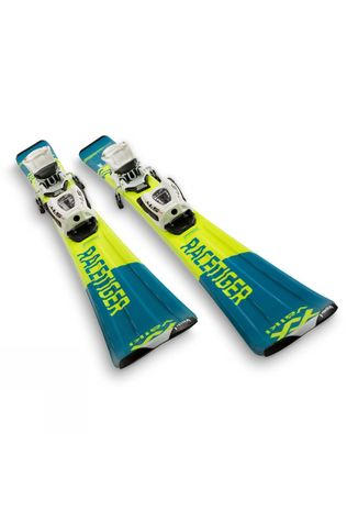 Volkl Kids Racetiger Jr Skis + Binding Yellow / Blue