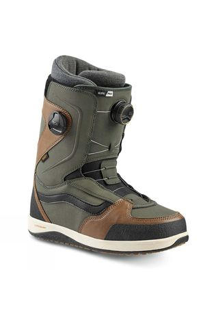 Vans Mens Aura Pro Snowboard Boot Green / Brown