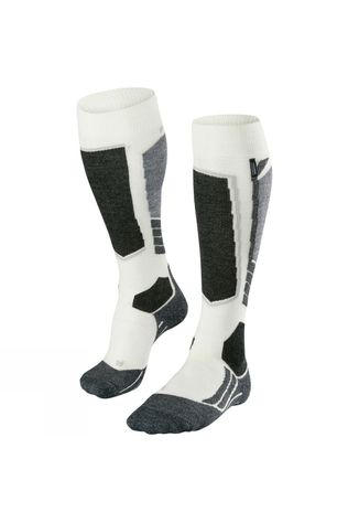 Falke Women's SK 2 Cashmere Ski Sock White/Patterned