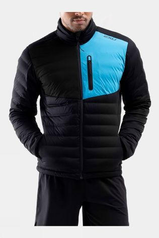 2XU Men's Pursuit Insulation Jacket Black/Ultra Aqua