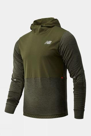 New Balance Men's Impact Run Grid Back Hoodie Oak Leaf Green