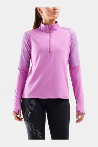 2XU Womens GHST 1/2 Zip Long Sleeve Top Ultra/White