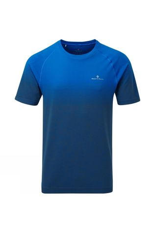 Ronhill Men's Tech Marathon Tee Atlantic/Grey Marl