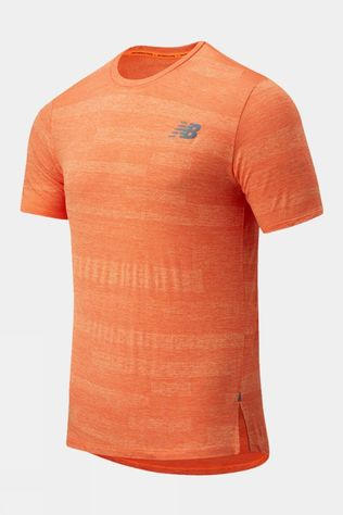 New Balance Mens Q Speed Jacquard Short Sleeve Tee Dynomite