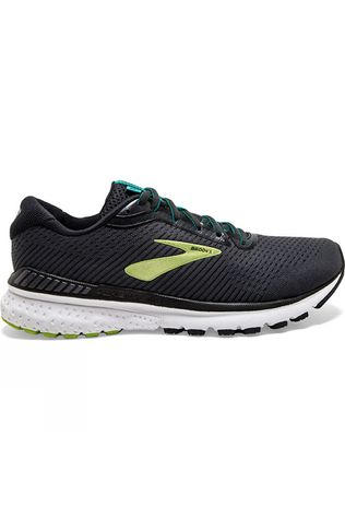 Brooks Men's Adrenaline GTS 20 Wide  Black/Lime/Blue Grass