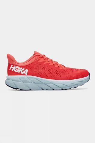 Hoka One One Women's Clifton 7 Hot Coral/White