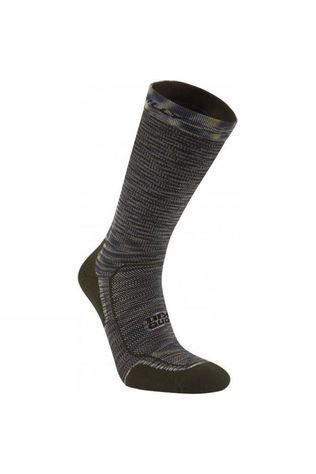 Hilly Mens Lite Comfort Crew Sock Khaki/Black