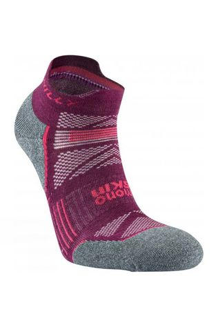 Hilly Womens Supreme Socklet Elderberry/Grey Marl