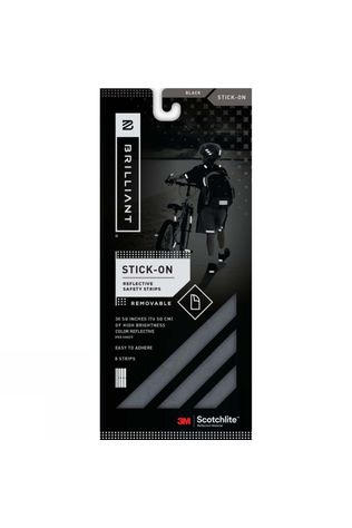 Safe Reflections Brilliant Reflective Strips Black