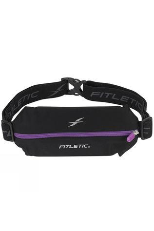 Fitletic Mini Lycra Belt Black/Mid Purple