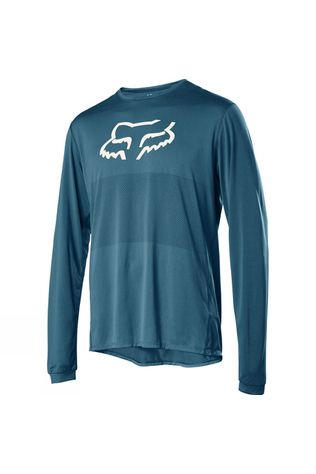 Fox Mens Ranger Long Sleeve Fox Head Jersey Teal