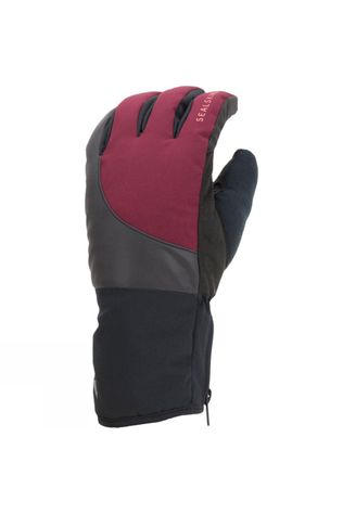 SealSkinz Waterproof Cold Weather Reflective Cycle Glove Black/ Red