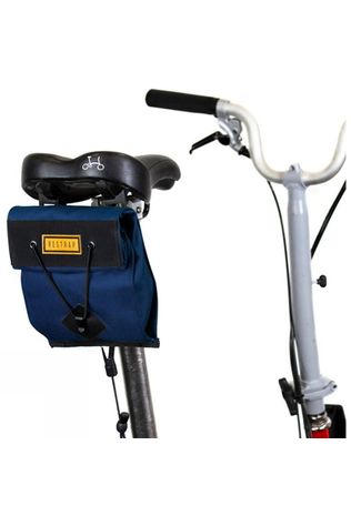 Restrap City Saddle Bag - Small (For Folding Bikes) Navy Blue