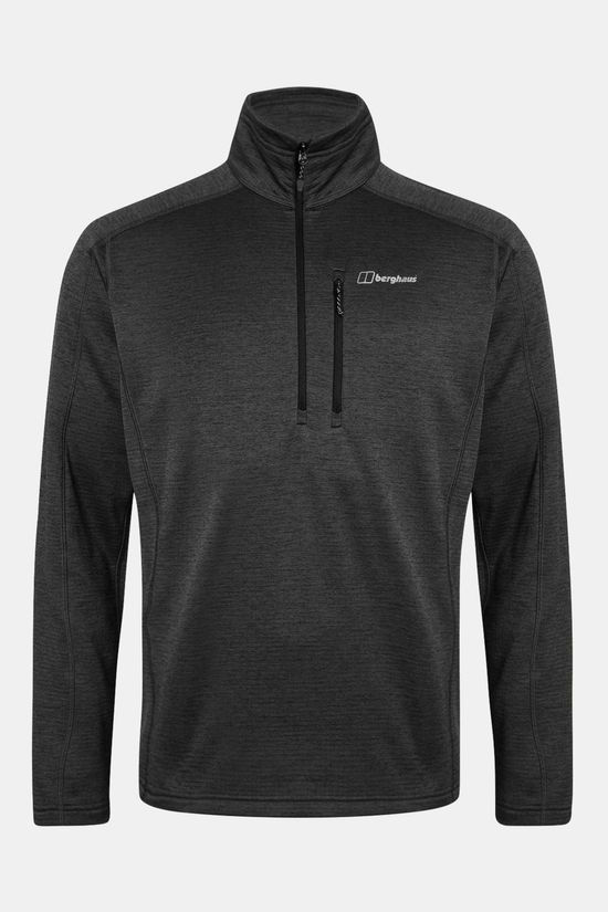 Berghaus Mens Spitzer HZ Fleece Jet Black/Grey Pinstripe