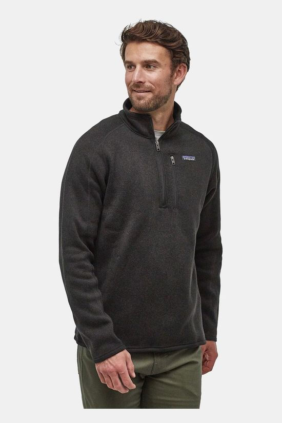 Patagonia Mens Better Sweater 1/4 Zip Fleece Black