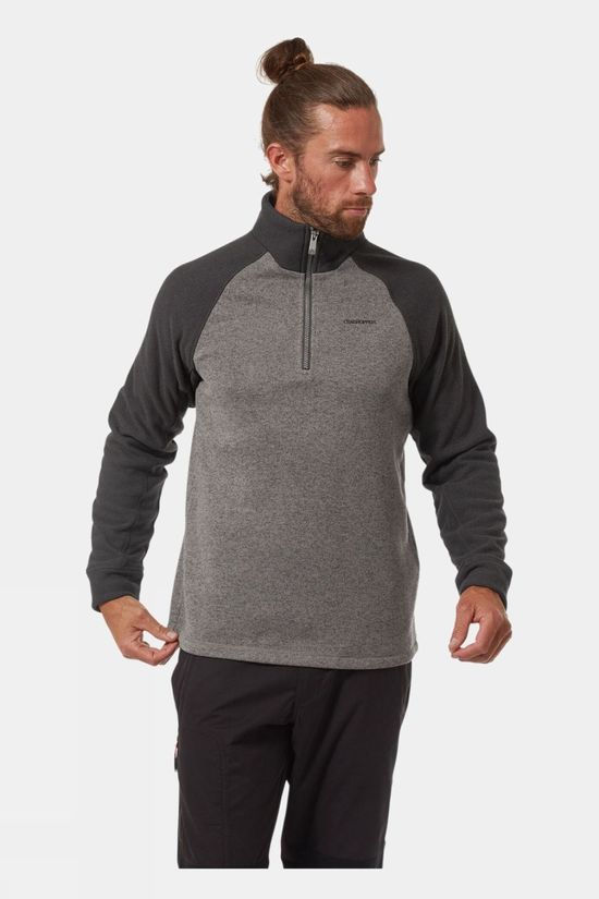 Craghoppers Mens Barker Half Zip Quarry Grey Marl