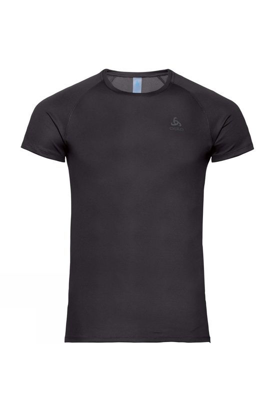 Odlo Mens Active Fast Drying Light Short Sleeve Crew Neck Top Black