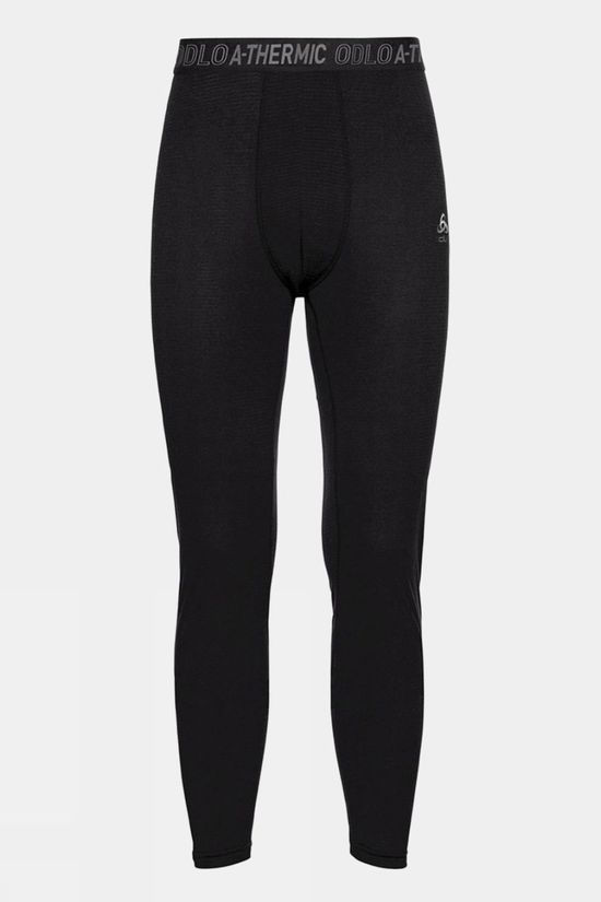 Odlo Mens Active Thermic Baselayer Bottoms Black Melange
