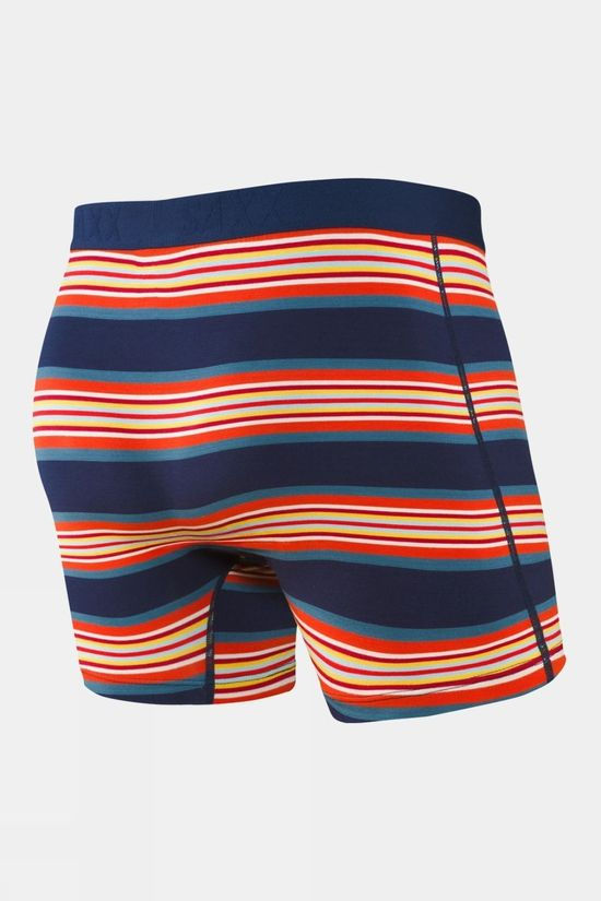 Saxx Mens Ultra Boxers with Fly Navy Banner Stripe