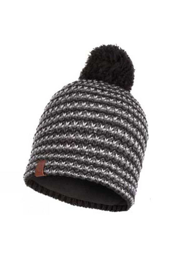 Buff Mens Dana Knitted and Polar Fleece Hat Graphite