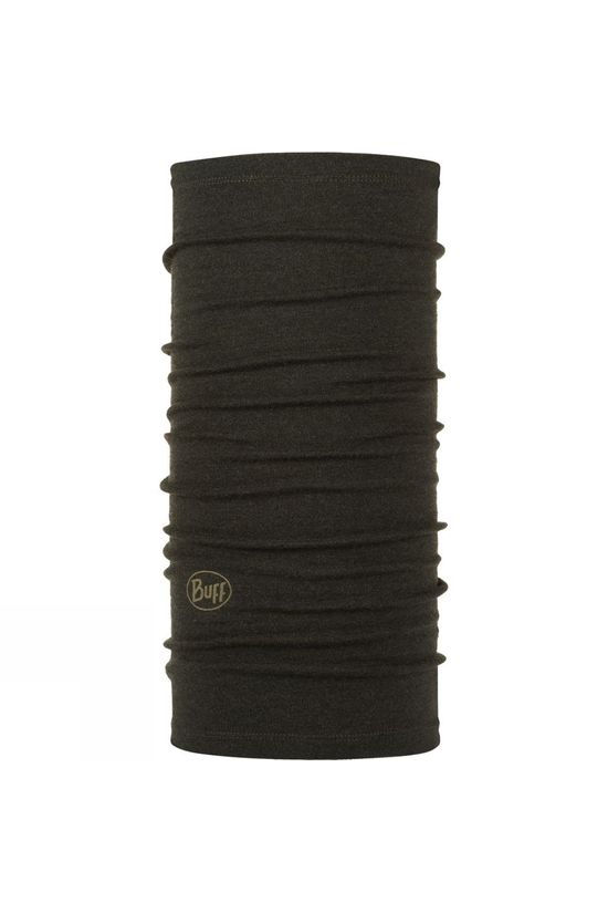 Buff Midweight Merino Wool Solid Buff Forest night Melange