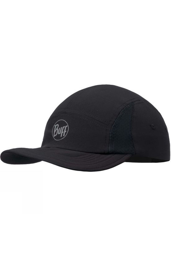 Buff Mens Run Cap R-Solid Black