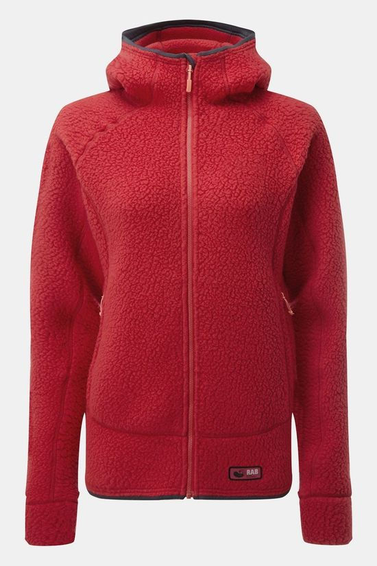 Rab Womens Shearling Hoody Ruby