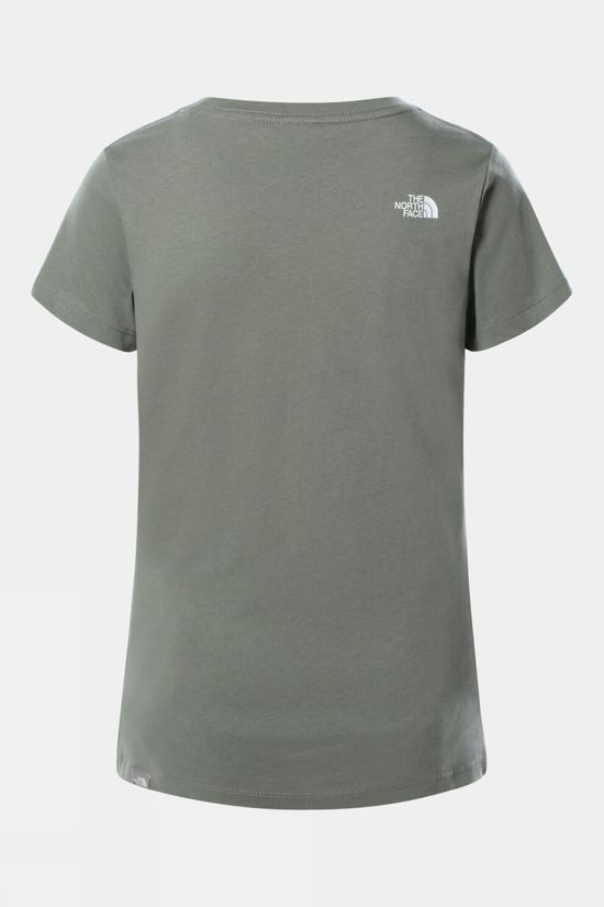 The North Face Womens Short Sleeve Neverstopexploring T-Shirt Agave Green