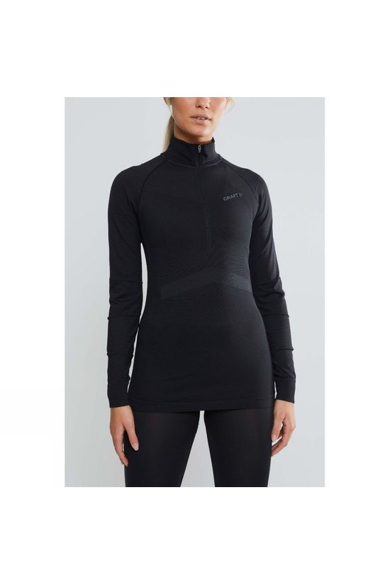 Craft Womens Active Intensity Zip Baselayer Black/Asphalt