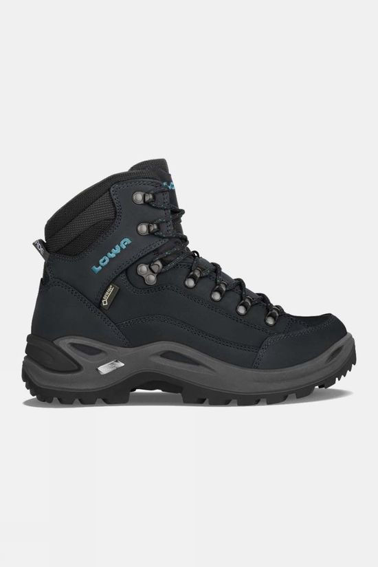 Lowa Womens Renegade GTX Mid Boot Asphalt/Turquoise