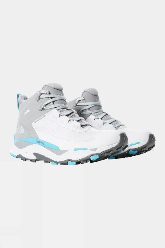 The North Face Womens Vectiv Exploris Mid Futurelight Micro Chip Grey/Maui Blue