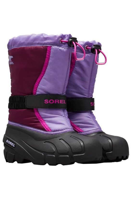 Sorel Youth Flurry Boot Purple Dahlia,