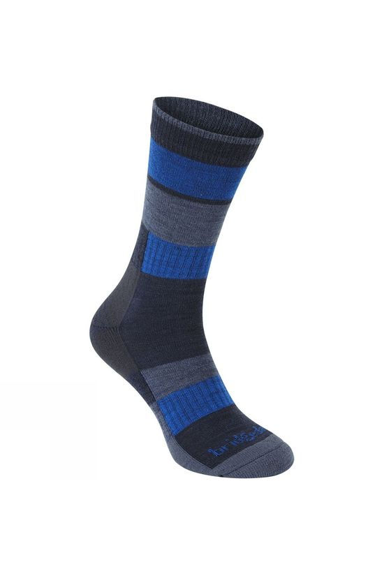 Bridgedale Merino Banded Trail Socks Navy/Blue