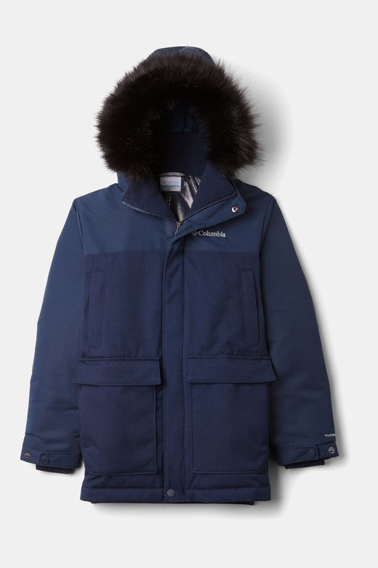 Columbia Boys' Boundary Bay Down Parka Collegiate Navy