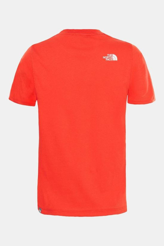 The North Face Boy's Short Sleeve Easy Tee Fiery Red/TNF White