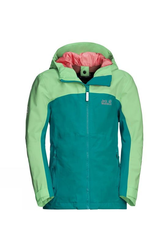 Jack Wolfskin Girls Saana Jacket 14+ Green Ocean