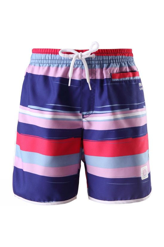 Reima Kids Seashell Board Shorts 14yrs  STRAWBERRY RED STRIPE