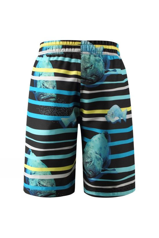 Reima Cancun Swim Shorts Blue Stripe Fish Print