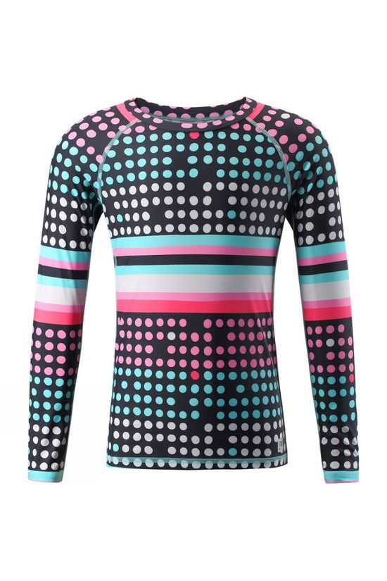 Reima Kids Madagaskar Swim Shirt Black Multi Colour Dot Print