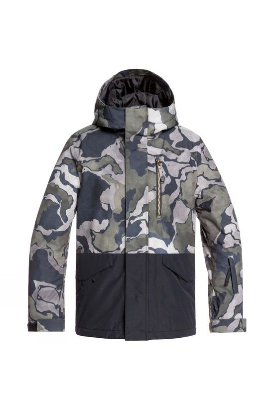 Quiksilver Boys Mission Block Youth Jacket Black Sir Edwards