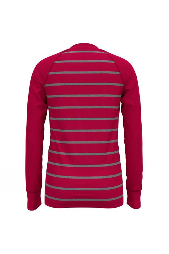 Odlo Kids Warm LS Crew 14+ Pink/Grey Melange Stripe
