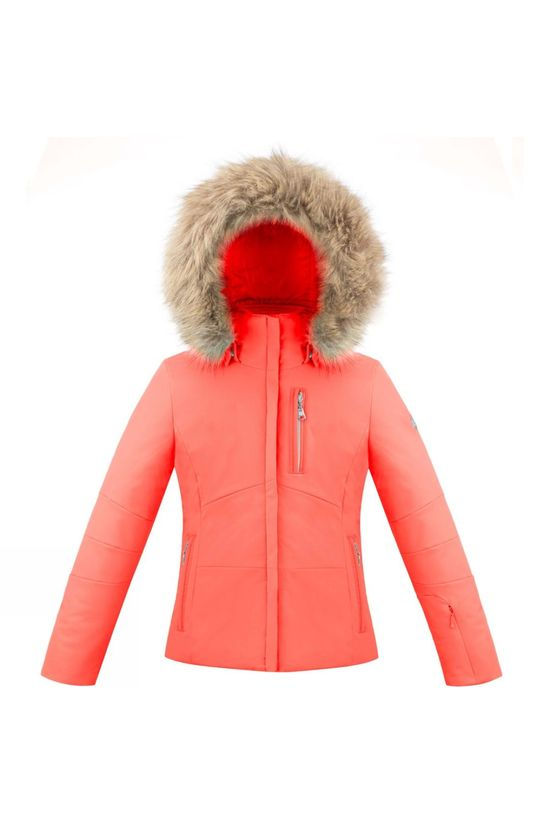 Poivre Blanc Girls Stretch Ski Jacket Nectar Orange