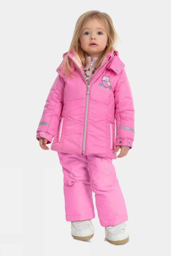 Poivre Blanc Girls Mini Bib Pant Fever Pink