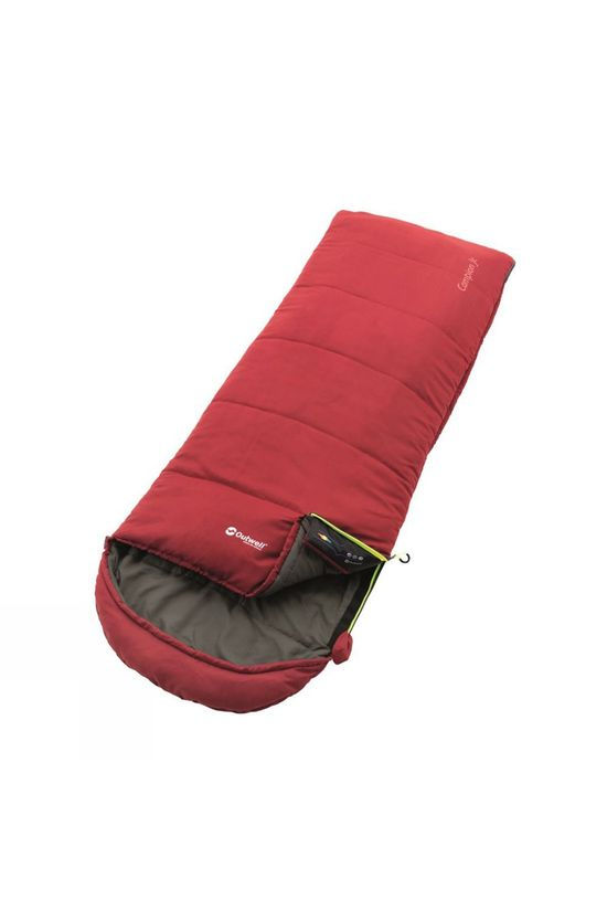 Outwell Campiond Juniour Synthetic Sleeping Bag Red