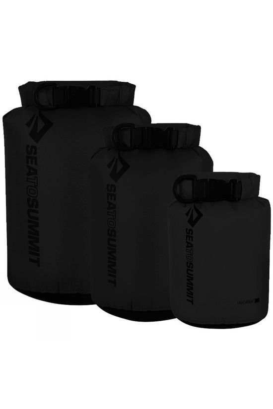 Sea to Summit Lightweight Dry Sack 3 Pack  Black